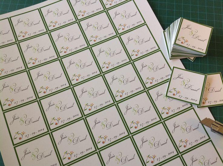 """Collection mariage """"Nature - arbre"""". Étiquette personnalisée pour les cadeaux des invités."""