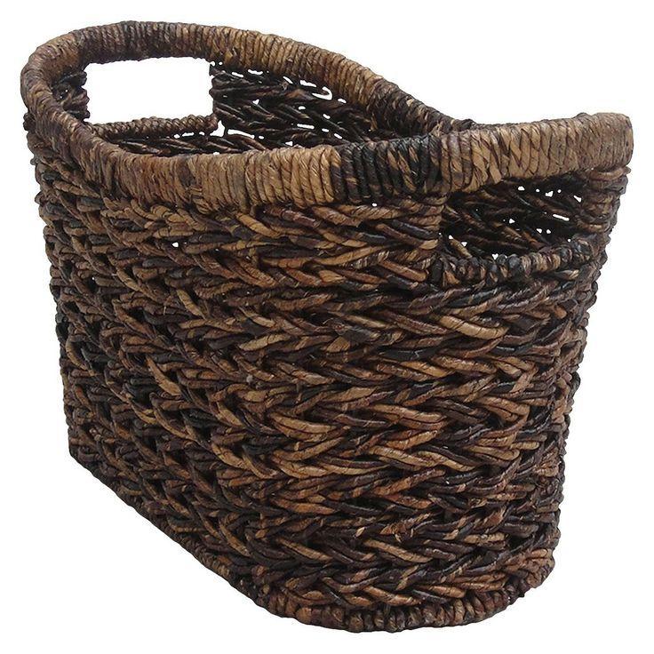 Target Home Alicia Magazine Decorative Basket   – Living Room Redesign – #Alicia…   – most beautiful shelves