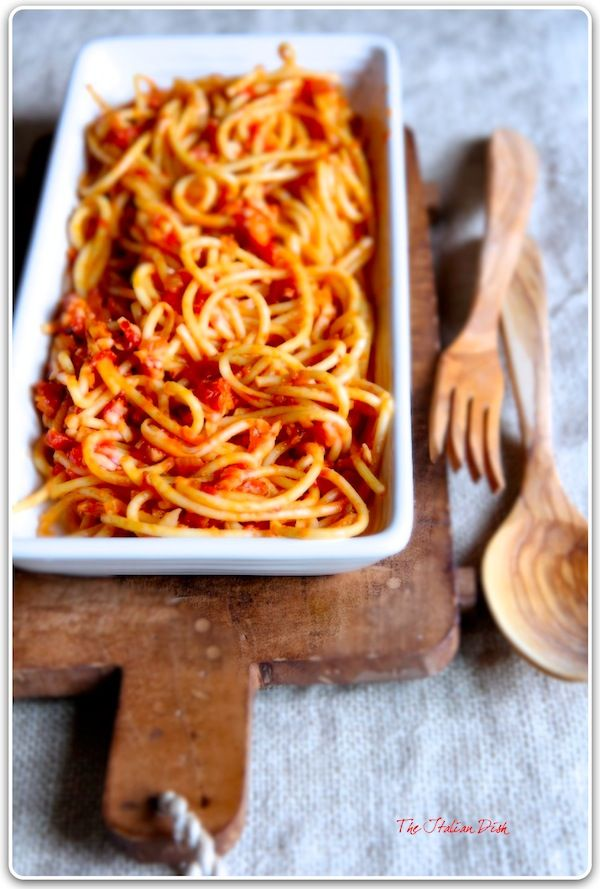 The Italian Dish - Posts - From Rome - Bucatini all' Amatriciana  Was my favorite Pasta when in Rome - had to learn to make it when I got home. Love it!