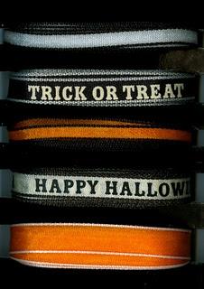 Halloween ribbons...