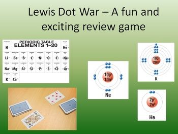 Lewis Dot War - FREE. A fantastic review game that the kids love! Get your kids excited about Lewis Dot Diagrams and let them have some fun in your classroom.