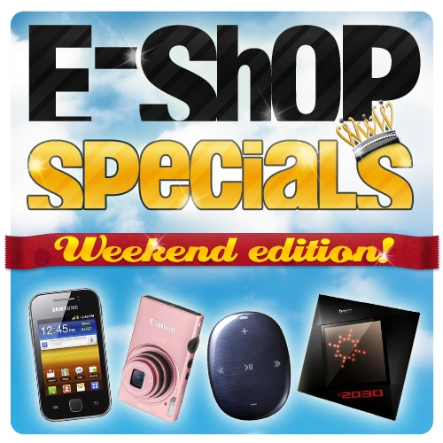 Oι αγαπημένες σας προσφορές e-shop specials είναι πλέον κοντά σας και τις 7 μέρες της εβδομάδας! Ένα νέο προϊόν σε εκπληκτική τιμή κάθε μέρα στις 12:00, τώρα και τα Σαββατοκύριακα, με τα e-shop specials weekend edition!