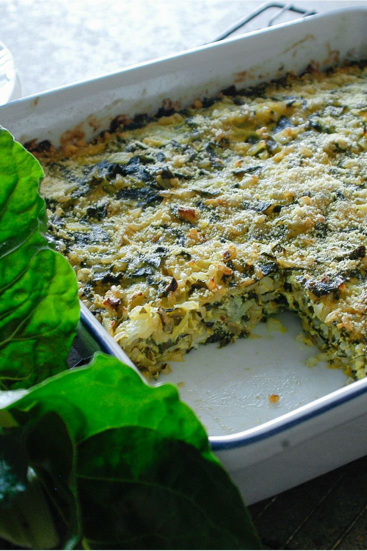 Cheesy Greens & Rice Pie by Shift Nutrition