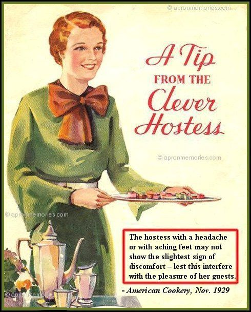 Apron Memories: A Tip From A Clever Hostess