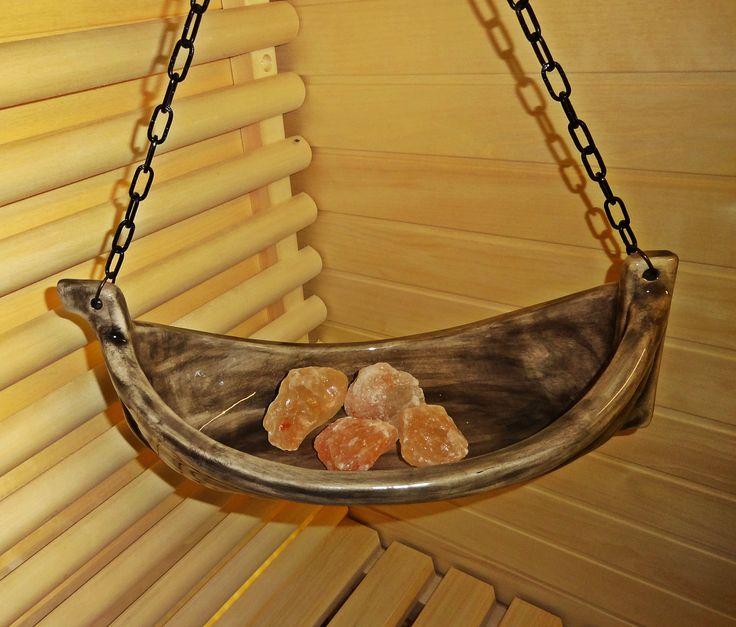 Sauna Boat Viking + Himalayan salt crystals.
