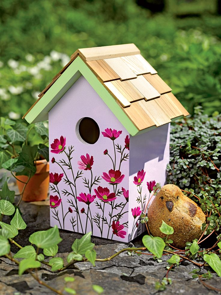 I LOVE THEM ALL! Floral Print Birdhouse - Decorative and Functional   Gardeners.com -