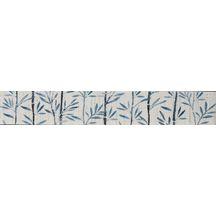 Carrelage mural fa ence arte one saxo bleu gris papyrus for Listel carrelage metro