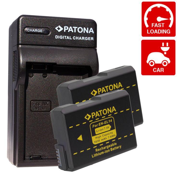 #NIKON EN-EL14 #CHARGEUR 3IN1 + 2 #BATTERIE - Les batteries #PATONA sont fabriquées avec un système spécial d'économie d'énergie afin d'augmenter l'efficacité énergétique de classe A++, un système qui fut créé afin d'éviter les pertes d'énergie.