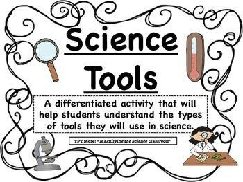 Students match the science tool to its name, describe how it is used, and show an example of the tool in use! Pictures and descriptions are included for differentiation of multiple levels!  *Updated to include Answer Key!  *View the PREVIEW*  This set includes everything you need for the lesson, no additional resources are necessary!