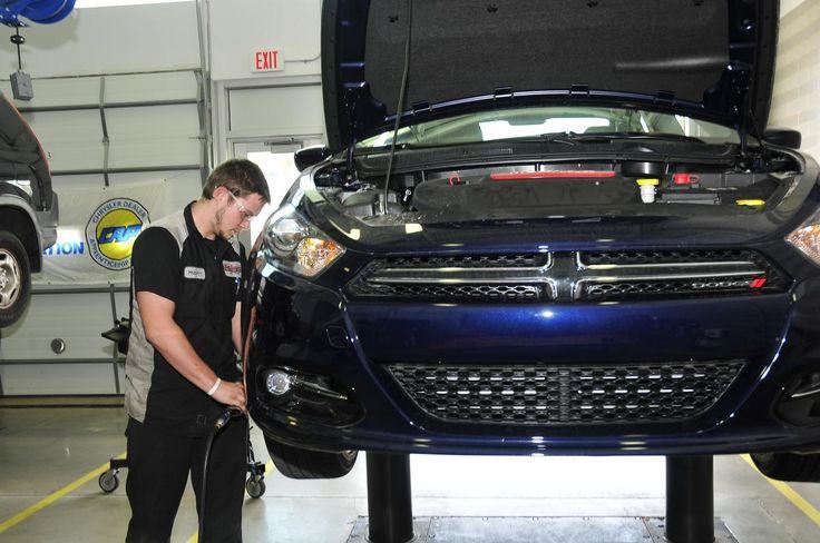 Chrysler donates 2013 Dodge Dart toward technician training at San Jacinto College | San Jacinto College | Teaching the Houston Community #Chrysler #DodgeDart #Automotive #SanJac
