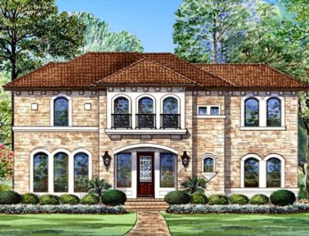 The Congressional Tuscan house plan boast an open layout . This luxury house plan also has the master on the main and 2 other spacious bedrooms