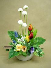 BRATKI TULIPANY SZAFIRKI PRZEBIŚNIEGI 538 wiosna sztuczne kwiaty wiosenne - zdjęcie 1