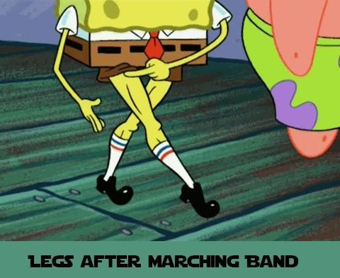 Yes. Those marching shoes are nice and all Spongebob, but you need black socks to pass inspection.