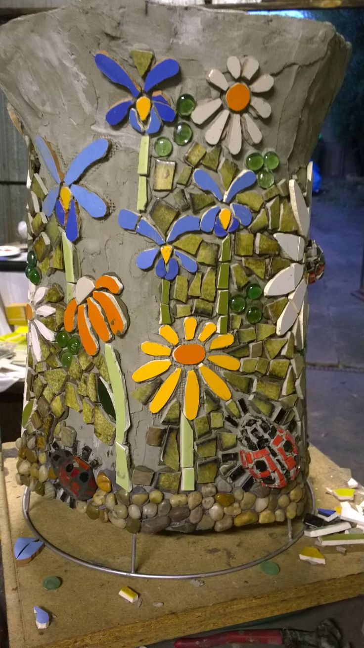 Online coloring mosaics - Mosaic Vase