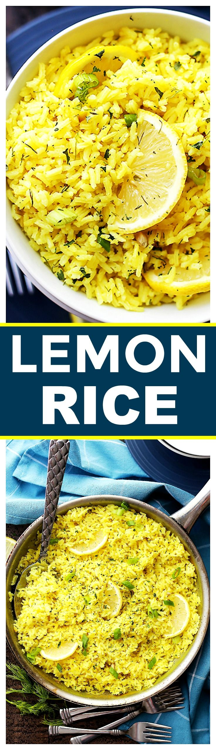 Lemon Rice Recipe – Bursting with lemon flavor, this is a delicious way to turn plain rice into an exotic dish, and it's the perfect accompaniment to any meats and/or veggies.