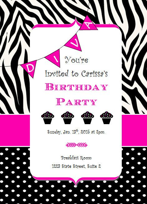 Best 20 Diva birthday parties ideas – Diva Party Invitations