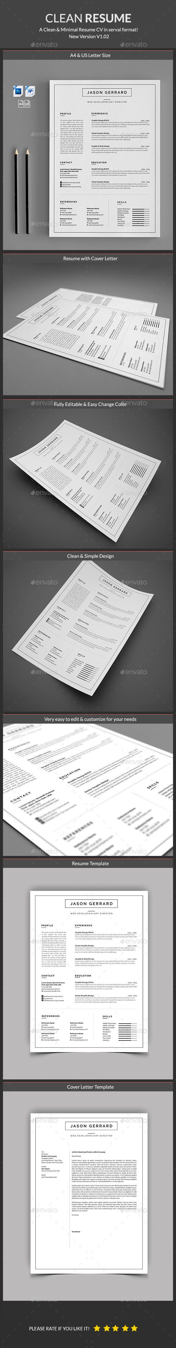 Resume Template PSD MS Word Download here