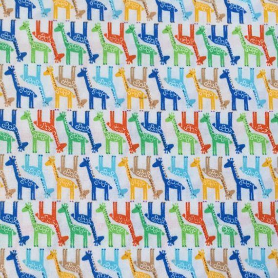 Nursery Giraffe Cotton Woven Giraffe Fabric Giraffe Print