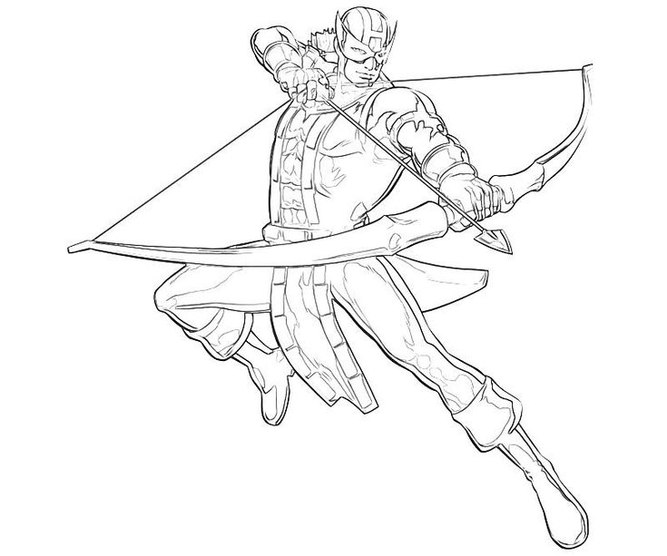 Printable Marvel Vs Capcom Hawkeye Abilities Coloring