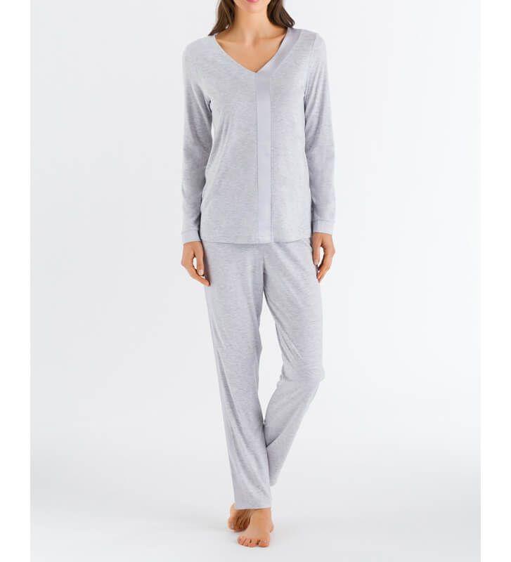 Womens Cotton Pajamas Set 3//4 Sleeve Shirt with Pants Sleepwear Modal Soft Sleep