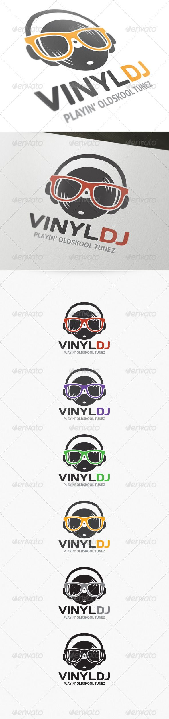 Vinyl DJ Logo - Not a great logo. Too Much going on. Very similar to current concept though.
