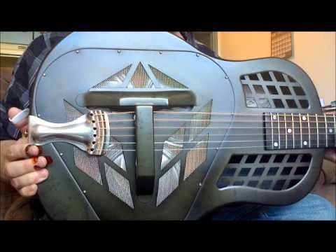 Slide Guitar Lesson 14 Licks for a 12 bar blues in Open D tuning All licks are…