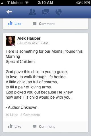 Poem For Trisomy Parents Facebook Snapshot Trisomy 13