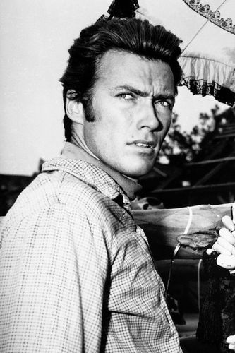 Clint Eastwood on the set of Rawhide 1962