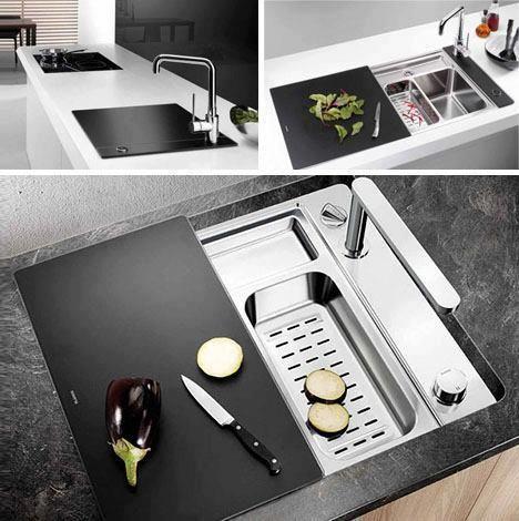Kitchen sink black cover