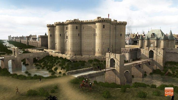 Ricostruzione 3D della Parigi medievale - 3D reconstructions of Middle-Ages Paris: la Bastille