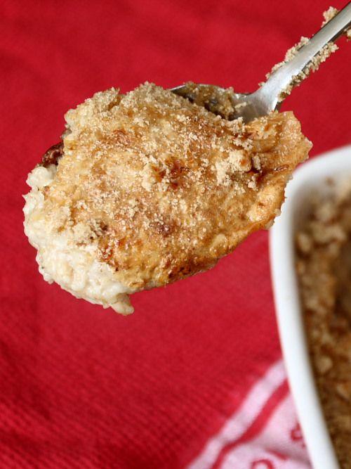 Baked porridge recipe:   http://www.them-apples.co.uk/2010/09/baked-porridge/