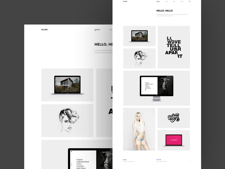 Holver is a minimalistic portfolio template part of this lovely WordPress theme.