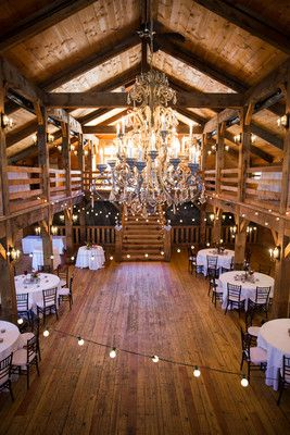 """""""The reception was in a gorgeous barn with a staircase leading into the center of the room, and it was only a mile away from the ocean,"""" Chonel said.  Reception Venue/Caterer:Red Lion Inn Resort  Floral Designer:Stow..."""