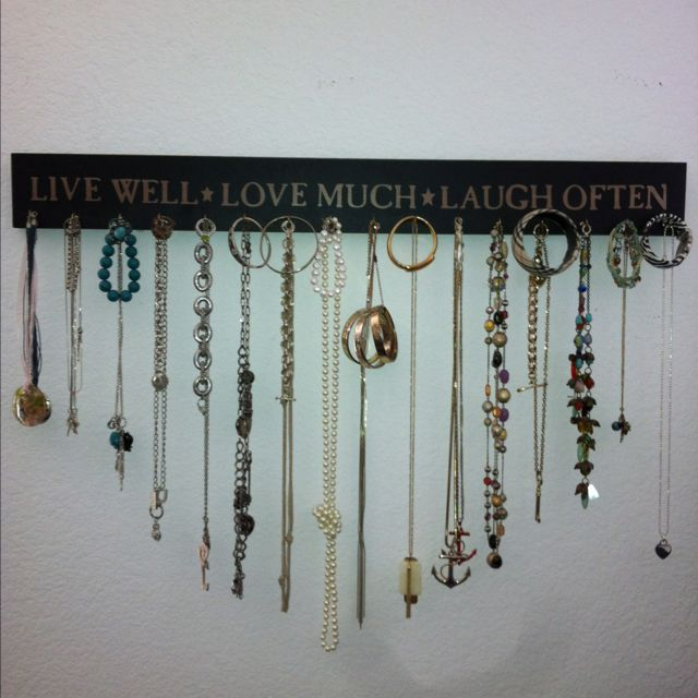 do it yourself jewelry organizer slash wall decoration