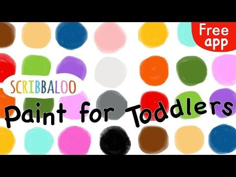 Simple, easy-to-use, FREE painting app for toddlers and preschoolers - Scribbaloo Paint - YouTube