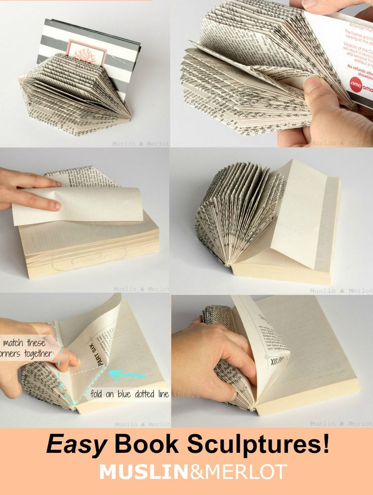 Easy Gem-Shaped Book Sculpture! Upcycled / Re-purposed paper organizer or home decor item.