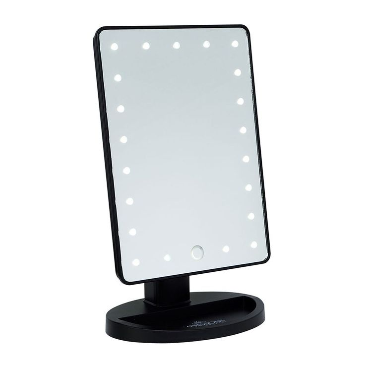 Impressions Vanity Touch LED Mini Vanity Mirror in Black