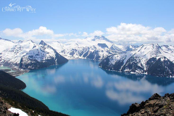 Garibaldi Lake, Cloud Reflections and Mount Garibaldi.