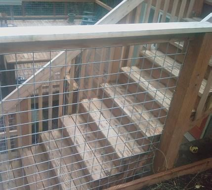 STOCK Panels Stock Wire excellent for deck railings. Excellent for visiblility, rust resistant, and strong! Easier to install and much less expensive than cable railing.