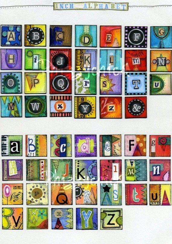 Phizzychic Inchie Alphabet Sheet