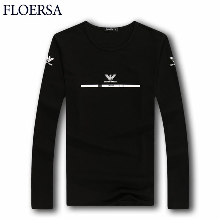 2017 Spring Fashion Man's T-shirt Printed Round Collar Long Sleeve T shirt Slim Casual Camiseta Hombre Men Clothes M-3XL