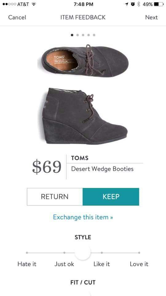 Stitch Fix Toms Desert Wedge Bootie