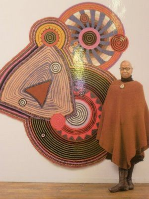 Xenobia Bailey exhibits at Fuller Craft Museum