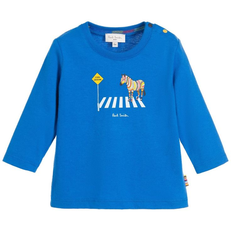 Paul Smith Baby Boys Blue Zebra Top