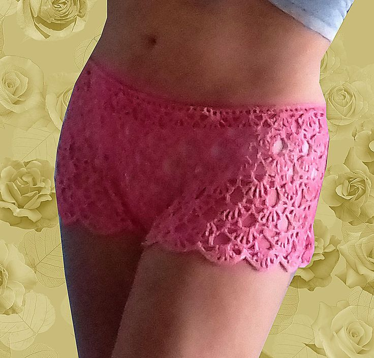 Hot pants sexy boyshorts pure silk lace lingerie crochet see thru panties lace french knickers erotic see through thong by Dorsiana on Etsy