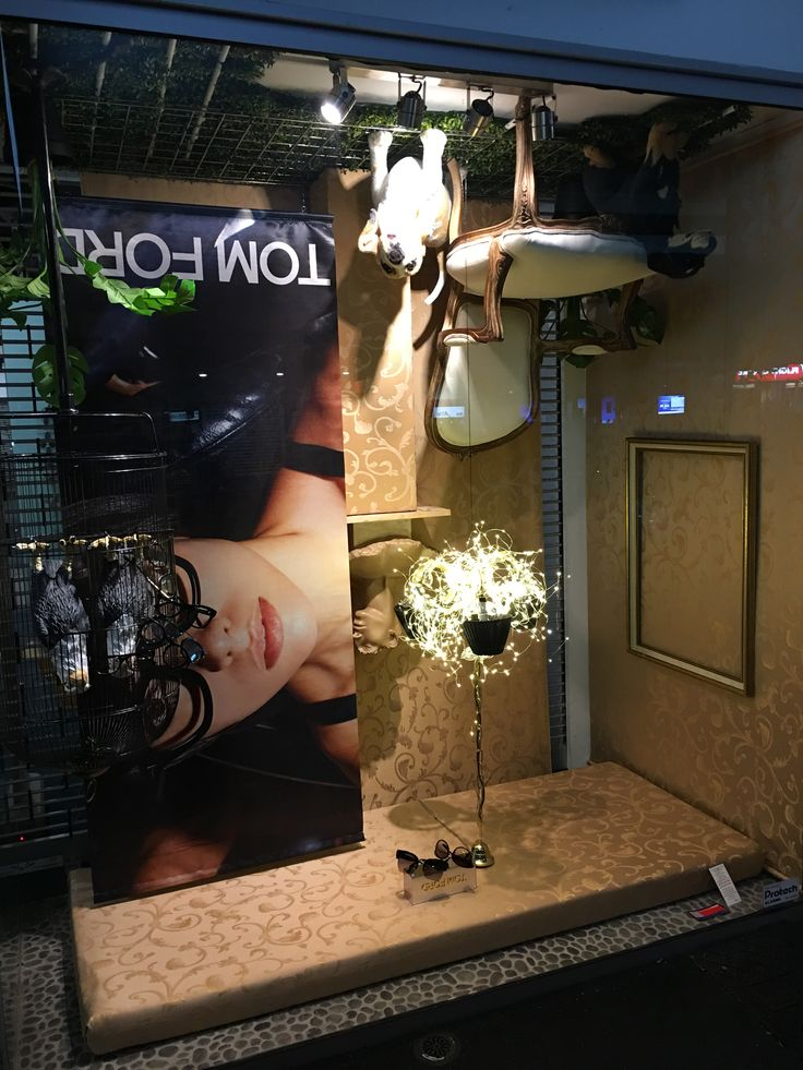 """OCCHIALI OPTICAL, Ponsonby, Auckland, New Zealand, """"Here at the bottom of the world, everything was upside down"""", for Tom Ford, pinned by Ton van der Veer"""