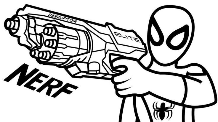 Nerf Gun Coloring Page To Print Nerf Coloring Pages
