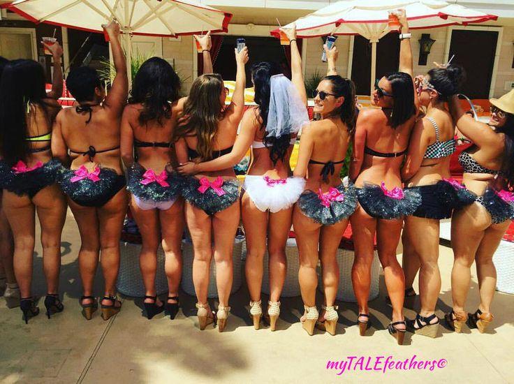 Bachelorette Party Booty Veils - Group Bling Bikini Veils - Customize your Colors - by myTALEfeathers® - Bikini Veil, Booty Veil, Bling, Bachelorette Party Ideas, Hens Party, Vegas, Bride to Be, Bridal Shower Ideas, Bikinis, Bride Bikini, Bling, Satin Bow