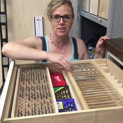 Sandra Powell, a/k/a Sawdust Girl, shows us how she put together her functional, organized, multilevel drill-and-driver-bit storage drawer. LED Bicycle Wheels - Back in that sweet Parisian workshop, the La Fabrique DIY channel shows you how to add some highly-visible, waterproof LED lighting to your bike wheels, for better nighttime