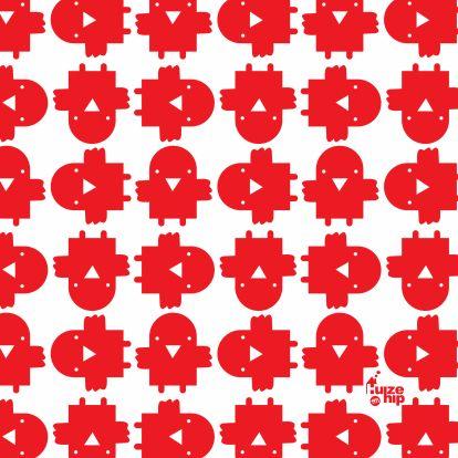 Huize Hip Vogeltje Rood Patroon 1